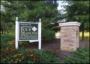 Four seasons welcome sign
